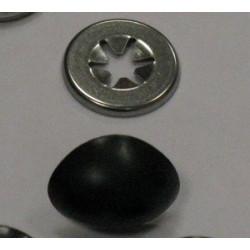 Носики с фиксатором, Цвет черный, 22 мм, 2 шт, Состав: пластик.