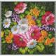 Полевые цветы, канва с рисунком для вышивки нитками 41х41см. Матрёнин посад