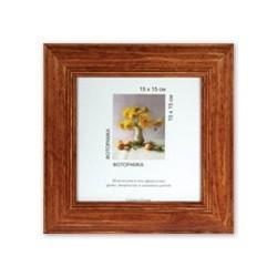Орех, рамка деревянная с оргстеклом 15х15см