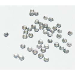 Белый, стразы клеевые 3.1 мм, акрил, 144 шт, Zlatka