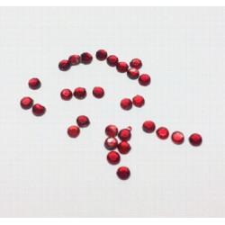 Красный, стразы клеевые 3.1 мм, акрил, 144 шт, Zlatka