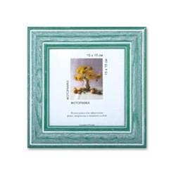 Зеленый, рамка деревянная с оргстеклом 15х15см