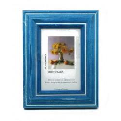 Синий, рамка деревянная с оргстеклом 13х18см