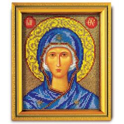Божья Матерь, набор для вышивания ювелирным бисером 12х14,5см Радуга Бисера