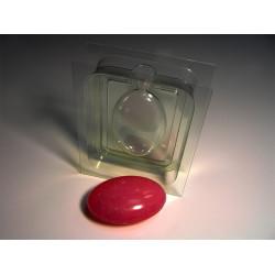 """3D Овал, стор. """"Б"""" (задник) пластиковая форма для мыла"""