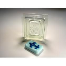 "3D Флер де Лис, стор.""А"" пласт. форма для мыла"