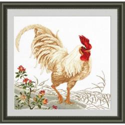 Гордая птица, набор для вышивания крестиком, 43х39см, мулине хлопок 21цвет Овен