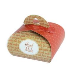 Подарочная коробочка Бонбоньерка Hand Made terracotta, 2 шт в уп
