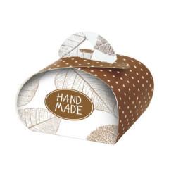 Подарочная коробочка Бонбоньерка Hand Made chocolate, 2 шт в уп