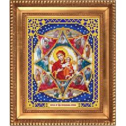 Неопалимая купина, ткань с рисунком для вышивки бисером 13,5х16,5см. Благовест