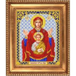 Знамение, ткань с рисунком для вышивки бисером 13,5х16,5см. Благовест