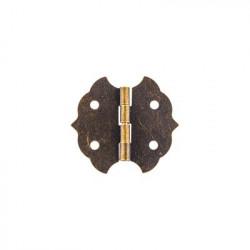 Под бронзу, петля для шкатулки с шурупами металл 2шт,  2.8х3см. Mr.Carving