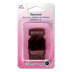 Пряжка - фастекс (трезубец) , черный пластик 25 мм