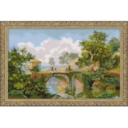 Итальянский пейзаж.Ф.Матвеев, набор для вышивания крестиком, 38х26см, нитки шерсть 28цветов Риолис
