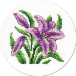 Садовая лилия, набор для вышивания бисером, 12х12см, 10цветов Кларт