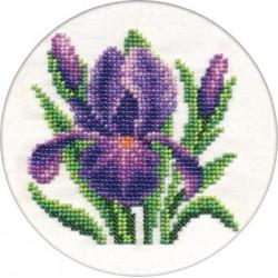 Нежный ирис, набор для вышивания бисером, 13х13см, 12цветов Кларт