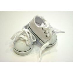 Кеды белые, длина стопы 7см. Кукольная обувь
