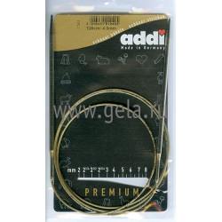 Спицы, круговые, супергладкие, никель, №4, 120 см, Addi