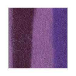 Св.фиалка/т.сирень/фиолетовый, шерсть для валяния, 100% мериносовая шерсть 50г