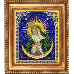 Остробрамская Пресвятая Богородица, ткань с рисунком для вышивки бисером 20х25см. Благовест