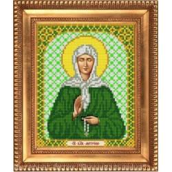 Матрона Св., ткань с рисунком для вышивки бисером 13,5х16,5см. Благовест