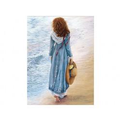 Прогулка по воде, набор для изготовления картины стразами 40х53см 20цв. полная выкладка, АЖ