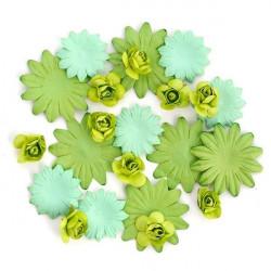 Цветы бумажные зелёные 30шт. MAGIC HOBBY