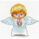 Мой ангел, набор для вышивания крестиком, 14х13см, 13цветов Алиса