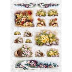 Цветы, бумага рисовая для декупажа, 32х45 см. Love2Art