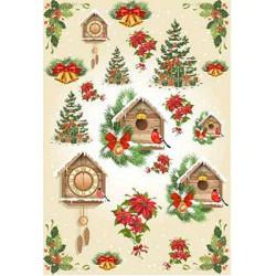Рождество, бумага рисовая для декупажа, 32х22 см. Love2Art