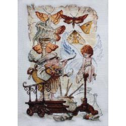 Художник, набор для вышивания крестом 23х32см мулине Finca 42цв. канва Linda 27ct Neocraft