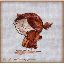 Любимый медвежонок, набор для вышивания крестом 7х7см мулине Finca 8цв. канва Linda 27ct Neocraft