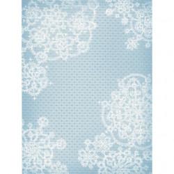 Голубой узоры, дизайнерская канва №18, 21х30см. М.П.Студия