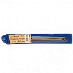Двухсторонний крючок для вязания d 2.0 - 4.0мм, 13см, металл GAMMA