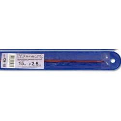 Красный крючок для вязания металл d 2.5мм 15см, GAMMA