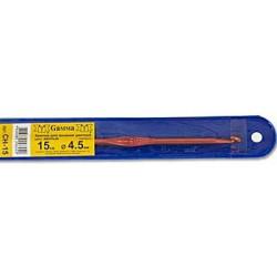 Красный крючок для вязания металл d4.5мм 15см, GAMMA