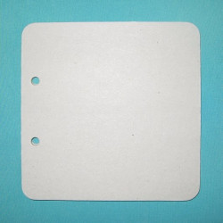 Квадрат скругленный малый, заготовка для альбома 15х15см 2отверстия без колец 6листов картон 1,5мм