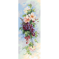 Виноградная лоза, канва с рисунком для вышивки нитками 40х90см. Матрёнин посад