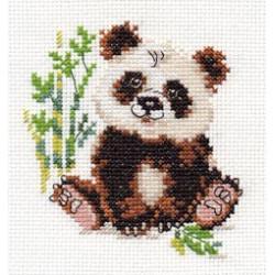 Панда, набор для вышивания крестиком, 9х10см, 12цветов Алиса