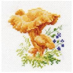 Лисички, набор для вышивания крестиком, 9х9см, 10цветов Алиса