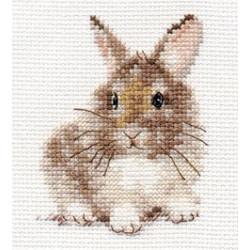Крольчонок, набор для вышивания крестиком, 7х9см, 10цветов Алиса