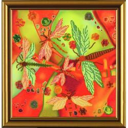 Летний этюд.Стрекозы, набор для вышивания бисером, 22х22см, 7цветов НоваСлобода
