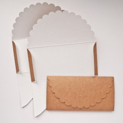 Основа для подарочного конверта №1 крафт 3шт картон 270г/м