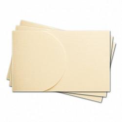 Основа для офомления подарочной карты №2 слоновая кость 3шт фактура Лён картон200г/м