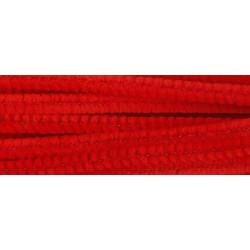 Красный, синель-проволока (шенил) 6мм*30см 30шт