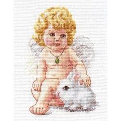 Ангел Хранитель, набор для вышивания крестиком, 10х14см, 19цветов Алиса