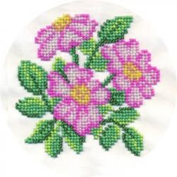 Душистый шиповник, набор для вышивания бисером, 12х12см, 10цветов Кларт