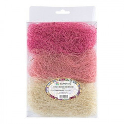 Белый/св.розовый/розовый, сизалевое волокно 30гр. Blumentag
