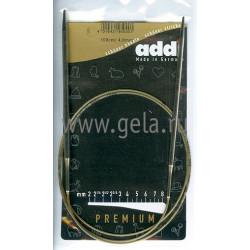 Спицы, круговые, супергладкие, никель, №4, 100 см, Addi