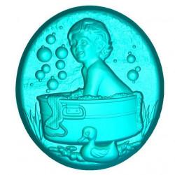 Веселое купание, 3D силиконовая форма для мыла
